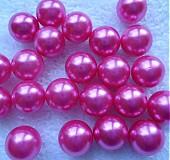 - BEZdierkové vosk.perly 10mm-ruž.ostrá-1ks - 3111431