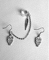 Náušnice - Ear cuff sovička - 3117822