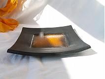 Svietidlá a sviečky - svietnik oranžovo žlto čierny - 3119964