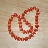 Korálky - 0311 Sklenené koráliky s efektom mačacích očí, 10 mm, oranžové, 1 ks - 311997
