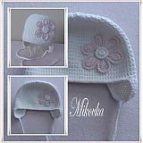 Detské čiapky - ciapocka kvetinka - 3120577