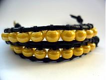 Náramky - Včielka - kožený - 3121325
