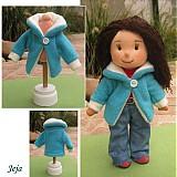 - Kabátik pre bábiku tyrkysový - 3121369