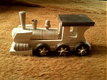 Hračky - drevený vláčik z vagónikmi - 3121674