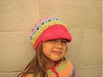 Detské čiapky - Dúhová bekovka - 3125103