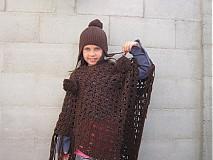 Detské oblečenie - Farby zeme pončo - 3125872