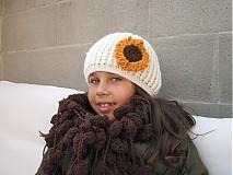 Detské čiapky - Slnečnica - 3127077