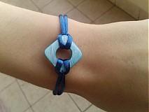 Náramky - Modrý perleťový náramok. - 3127079