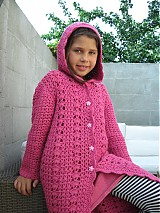 Detské oblečenie - Háčkovaný sveter s kapucňou - 3127937