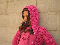 Detské oblečenie - Háčkovaný sveter s kapucňou - 3127941