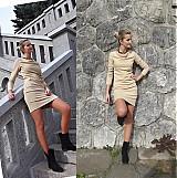 Šaty - Elegantné šaty nazbierané v páse- rôzne farby - 3130974