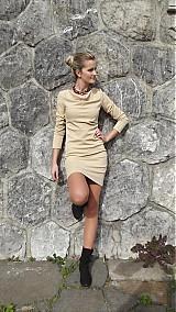 Šaty - Elegantné šaty nazbierané v páse- rôzne farby - 3130989