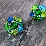 Náušnice - Náušničky Smaragdové moře... - 3135205