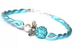 Náramky - modrý náramok anjeliček strážniček - 3142899