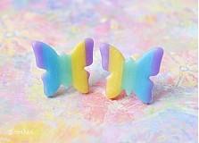 Náušnice - Motýle pastelkové 2 - 3149374