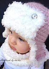 Detské čiapky - Dievčenská verzia leteckej chlpatky - 3158858