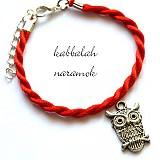 Náramky - kabbalah náramok - sovička - 3159315