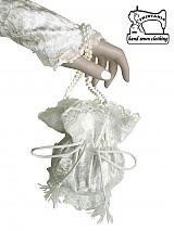 - Biela čipkovaná pompadúrka pre nevestu a svadobné  šaty 0085 - 3161316