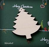 Dekorácie - Vianočná ozdoba stromček jednoduchý - 3162387