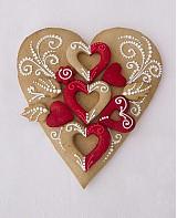 Dekorácie - Medovníkové Srdce srdečné, srdce v 002 - 3163446