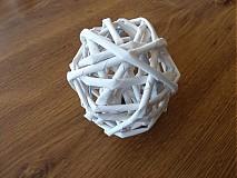 Drobnosti - Papierové pletenie - gulička - 3168234