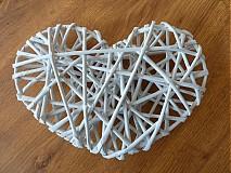 Drobnosti - Papierové pletenie ....srdce veľké - 3168278