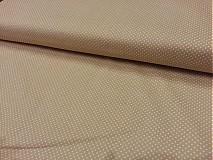 - Béžová bodkovaná bavlnená látka - 3170594