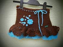 Sukne - čokoládová s modrou - 3173606