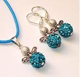 Sady šperkov - Anjeliky tyrkysové - sada - 3175652