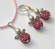 Sady šperkov - Anjeliky ružové svetlé - sada - 3175658