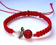 Náramky - Červený s červeným anjelikom - 3178899
