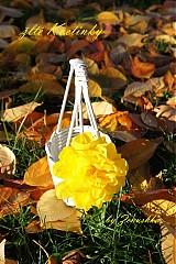 Košíky - Kvetinky vo farbe slniečka (bez košíčka!) - 3180382