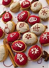 Dekorácie - Vianočné oriešky maľované - 3180724