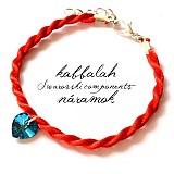 Náramky - Crystal BB srdiečko swarovski - kabbalah - 3182731