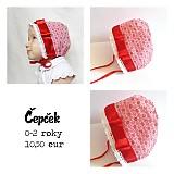 Detské čiapky - Červený čepček pre Karkulku - 3191134