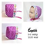 Detské čiapky - Fialový čepček so sovičkami - 3191136