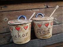Nádoby - Súprava cukor + med Srdiečka - 3195884