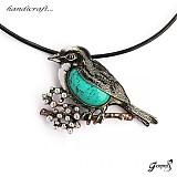 Náhrdelníky - Náhrdelník - Ptáček - originální autorský šperk - 3196084
