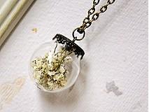 - Anjelsky dych - prívesok - sklenená guľôčka - 3196521