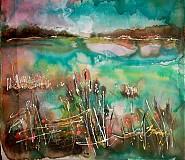 Obrazy - krajinka s rákosím... - 3196538
