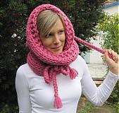 Čiapky - KapuCňoŠáL ružový - 3200438