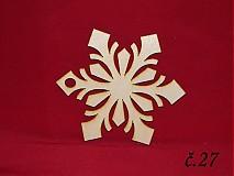 Dekorácie - Drevené vianočne ozdoby z dreva 26 - 3202682