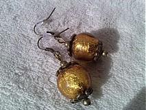 Náušnice - Zlatavé náušničky. - 3211344