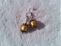 Náušnice - Zlatavé náušničky. - 3211351