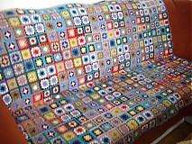 Úžitkový textil - Deka háčkovaná patchworková - 3214139
