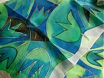 Šatky - Modro-žltý tulips - 3214183