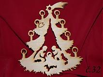 Dekorácie - Drevené vianočne ozdoby z dreva 30 - 3215852