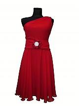 Šaty - šifón v ohnivočervenej - 3222804