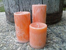 Svietidlá a sviečky - oranžová sada sviečok - 3231408