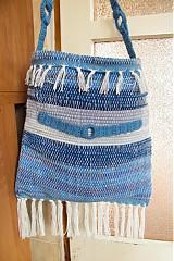 Kabelky - Tkaná modrá taška - 3232388